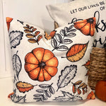 Leaf & Pumpkin Pattern - pillow cover