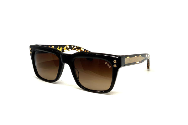 Hoorsenbuhs Sunglasses - Model V (Black/Tortoise Temples)