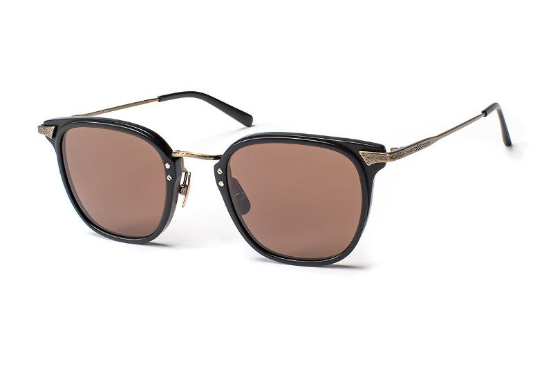 Matte Black - Antique Gold / Polarized CR39 Deep Brown