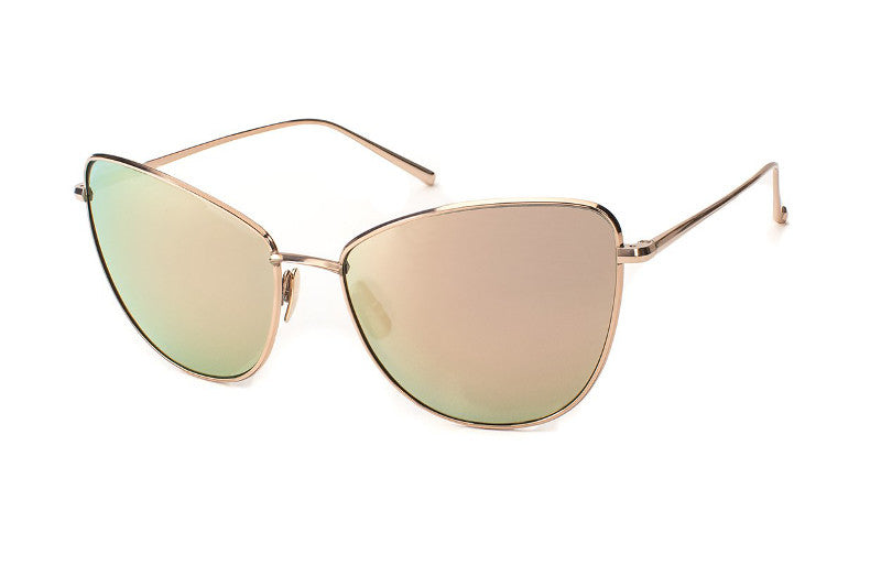 Rose Gold / Polarized CR39 Double Mirror Rose Lens