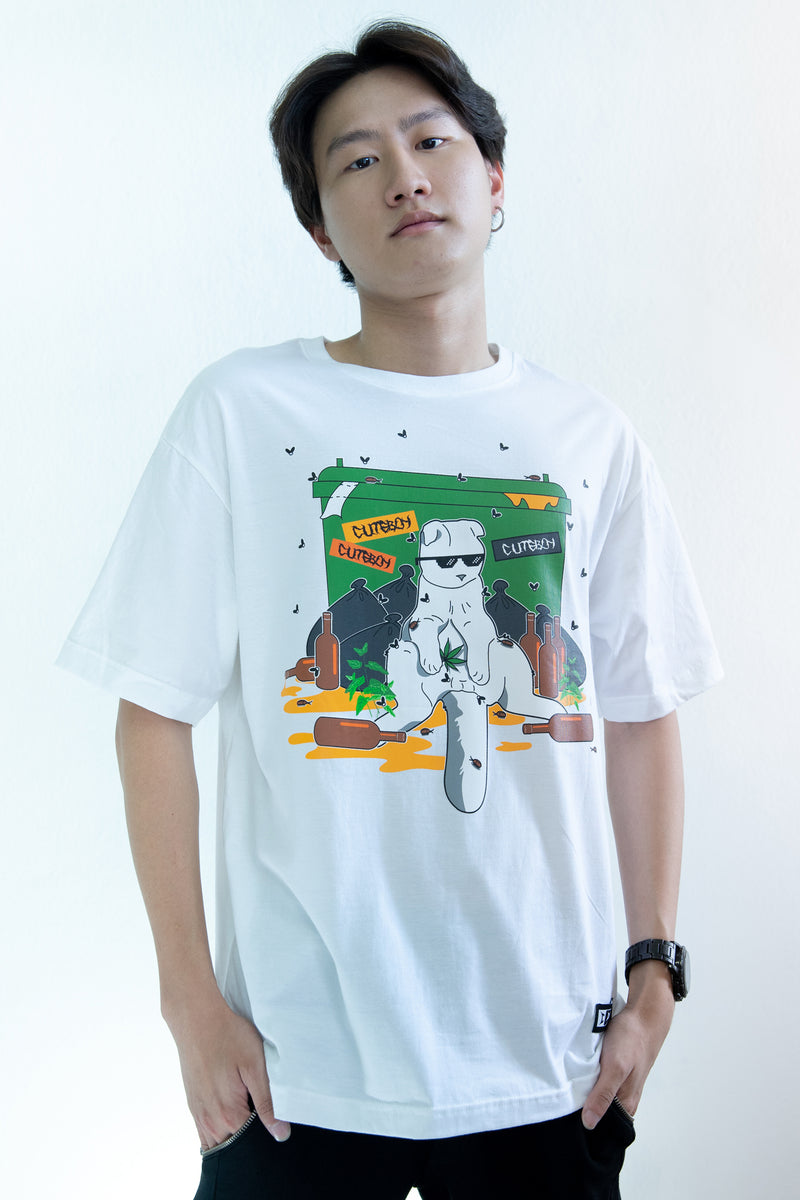 CuteBoy Beagle Thug Life White