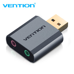 Vention USB External Sound Card Grey Metal Type Virtual 7.1