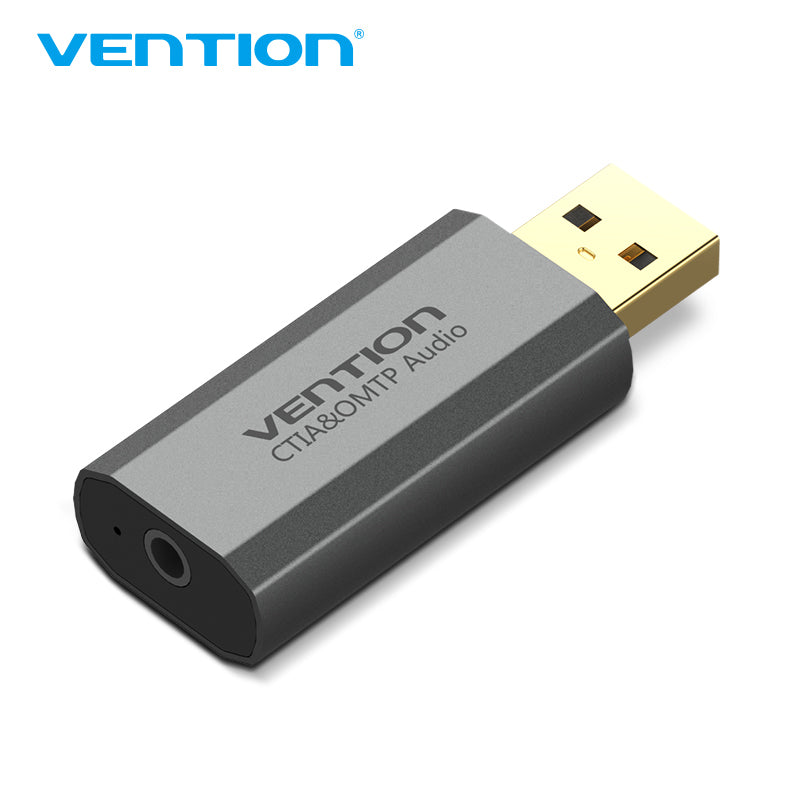 Vention USB External Sound Card Metal Type (OMTP/CTIA) Virtual 7.1