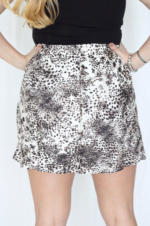 Into The Wild Satin Skirt