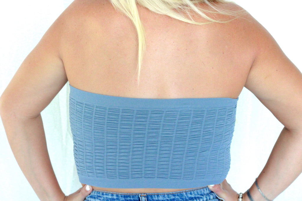 Renegade Tube Top- Steel Blue