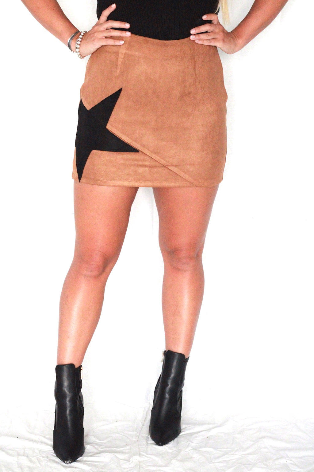 Dallas Star Suede Skirt