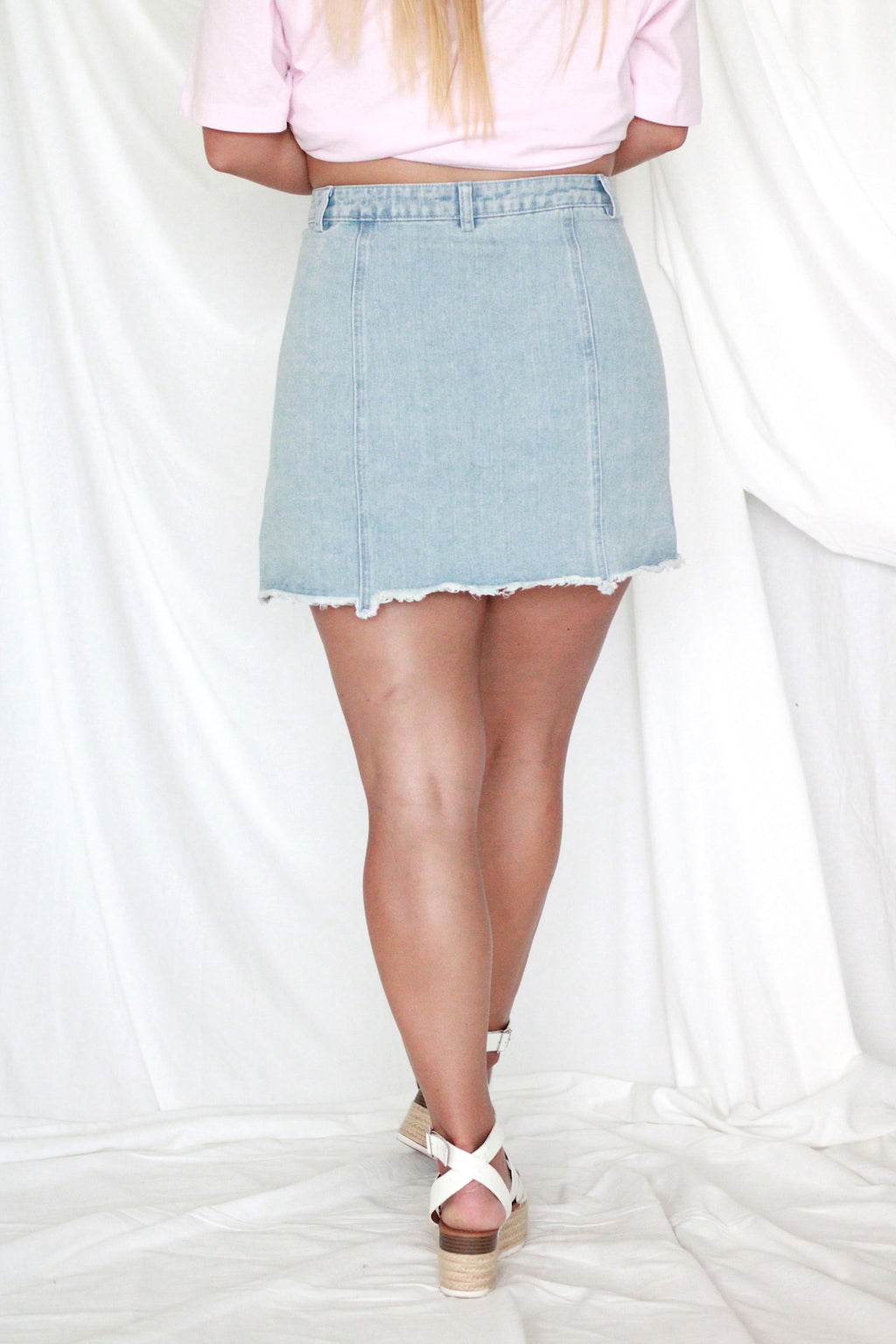 Denim Asymmetrical Skirt