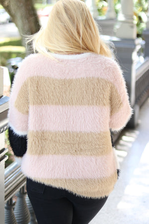 Colorblock Contrast Sweater