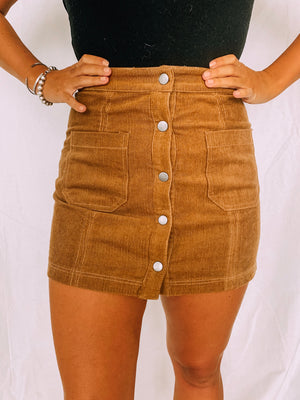 Sitting Pretty Corduroy Skirt