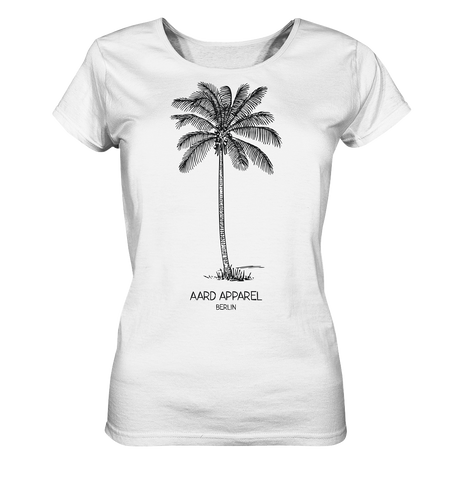 Tropical Palm-Ladies Organic Shirt