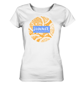 Summer Orange-Ladies Organic Shirt