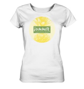 Summer Pineapple-Ladies Organic Shirt