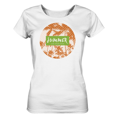 Summer Palms-Ladies Organic Shirt