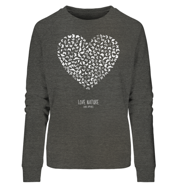 Butterfly Love  - Ladies Organic Sweatshirt