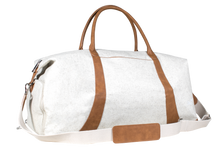 Load image into Gallery viewer, White Weekender Duffle Bag