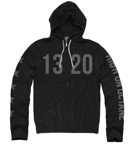 Men's HoO High on Octane 1320 Vintage Drag Racing Stars Zip Up Hoody