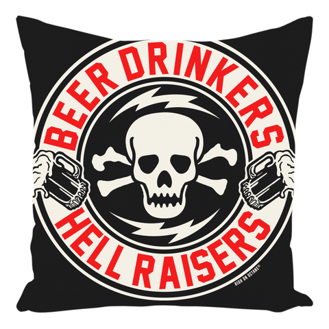 High on Octane® Beer Drinkers Throw Pillow