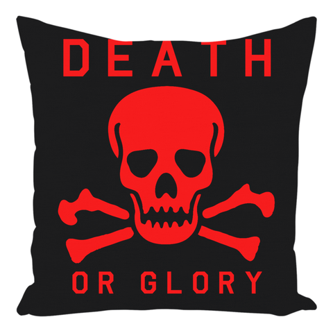 High on Octane® Death or Glory Red Skull Throw Pillow.