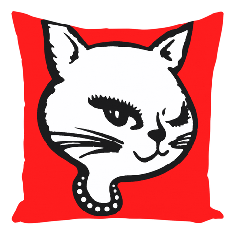 High on Octane® Winking Kitty Throw Pillow