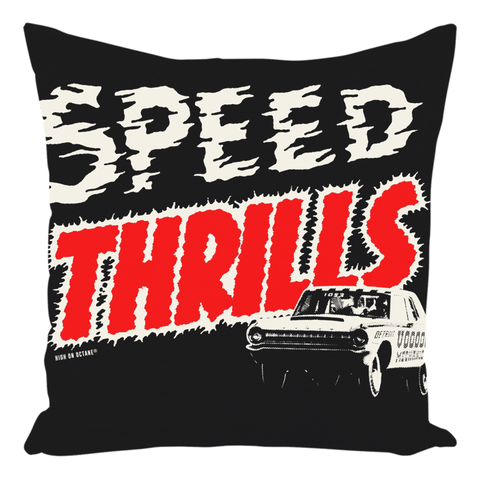 High on Octane® Speed Thrills Throw Pillow