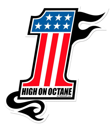 HoO High on Octane No. 1 Sticker