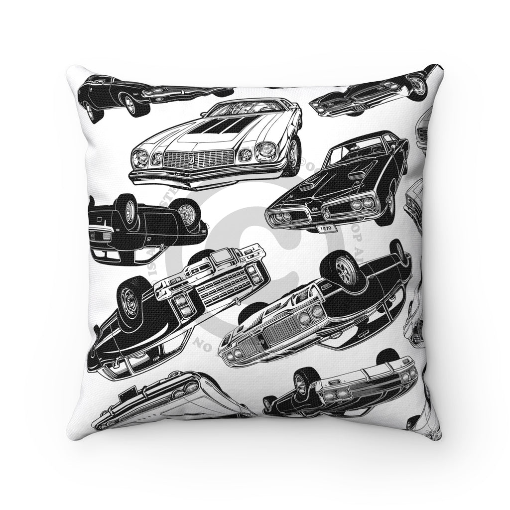 High on Octane® Muscle Car Mania© Square Pillow