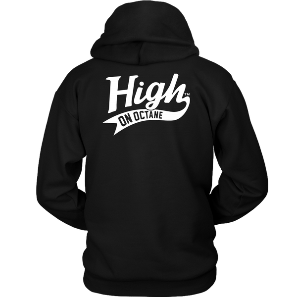 Unisex High on Octane® Skull and Pistons Pullover Hoodie Sweatshirt