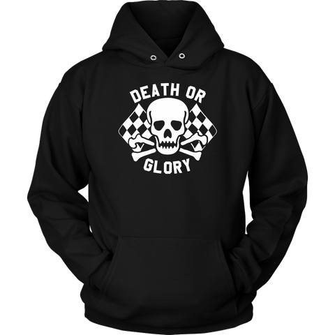 Unisex High on Octane® Death or Glory Pullover Hoodie Sweatshirt
