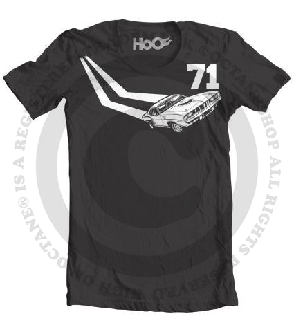 Men's HoO High on Octane 71 Cuda Stripe Mopar Muscle Car T-Shirt (Color Options)
