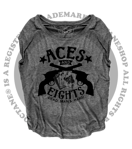 Women's HoO High on Octane Aces And Eights Loose Fit Short Sleeve Top