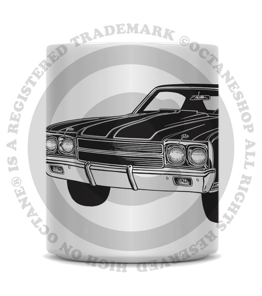 High on Octane® Vintage Chevelle Muscle Car Coffee Mug