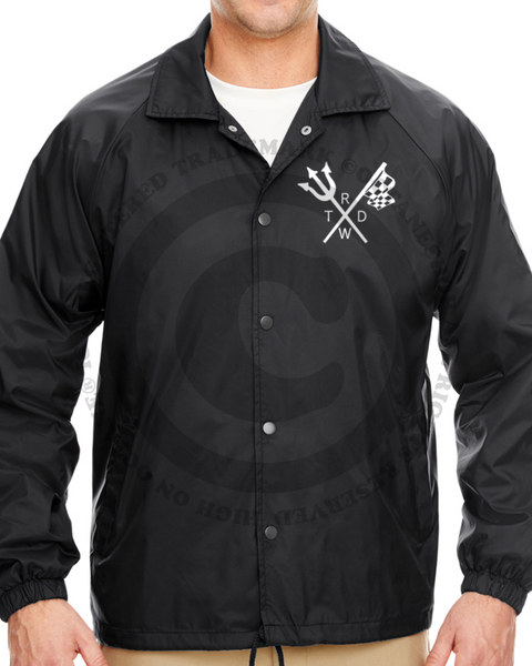 Men's Race With The Devil Classic Flag & Fork Coach Jacket
