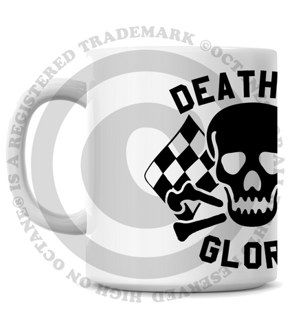 HoO High on Octane's  Death or Glory Skull Coffee Mug