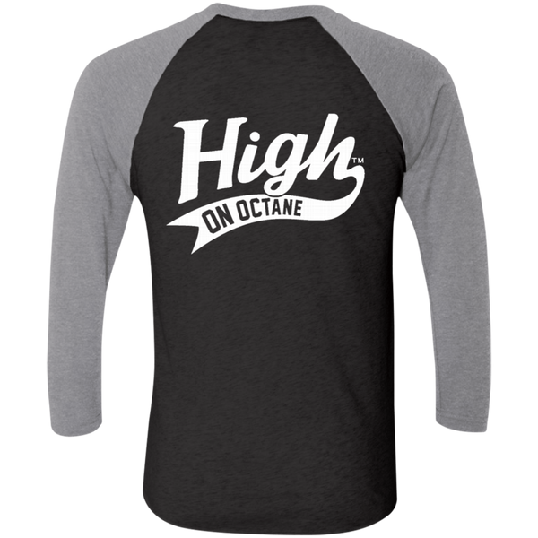 Unisex High on Octane® Race to Win Tri-Blend 3/4 Sleeve Baseball Raglan T-Shirt