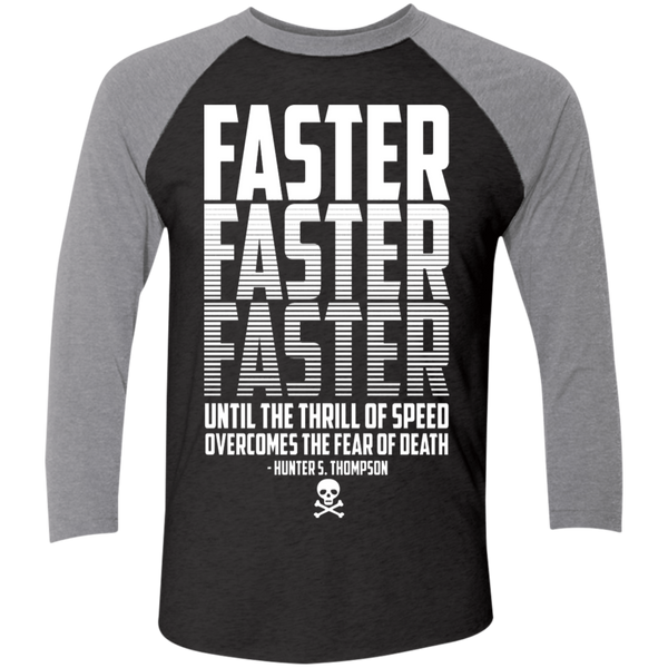Unisex High on Octane® Thrill of Speed Tri-Blend 3/4 Sleeve Baseball Raglan T-Shirt