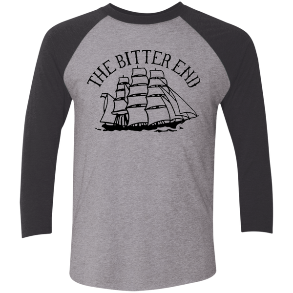 Unisex High on Octane® The Bitter End Tri-Blend 3/4 Sleeve Baseball Raglan T-Shirt