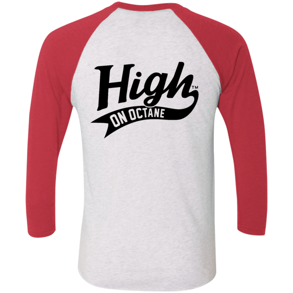 Unisex High on Octane® Bitchin' Camaro Tri-Blend 3/4 Sleeve Baseball Raglan T-Shirt