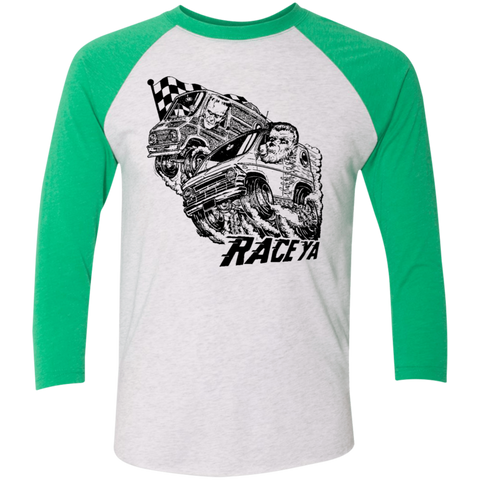 Unisex High on Octane® Race Ya Tri-Blend 3/4 Sleeve Baseball Raglan T-Shirt