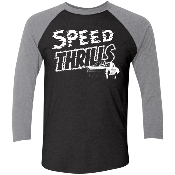 Unisex High on Octane® Speed Thrills Tri-Blend 3/4 Sleeve Baseball Raglan T-Shirt