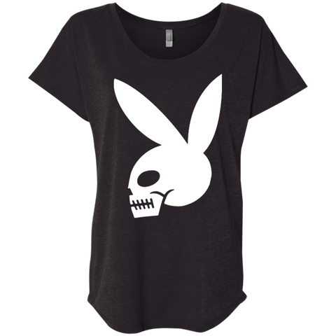 Women's High on Octane® Skull Bunny Triblend Dolman Sleeve Triblend Dolman Sleeve