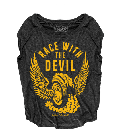 "Women's Race With The Devil ""Fire and Brimstone"" Loose Fit Short Sleeve Top"