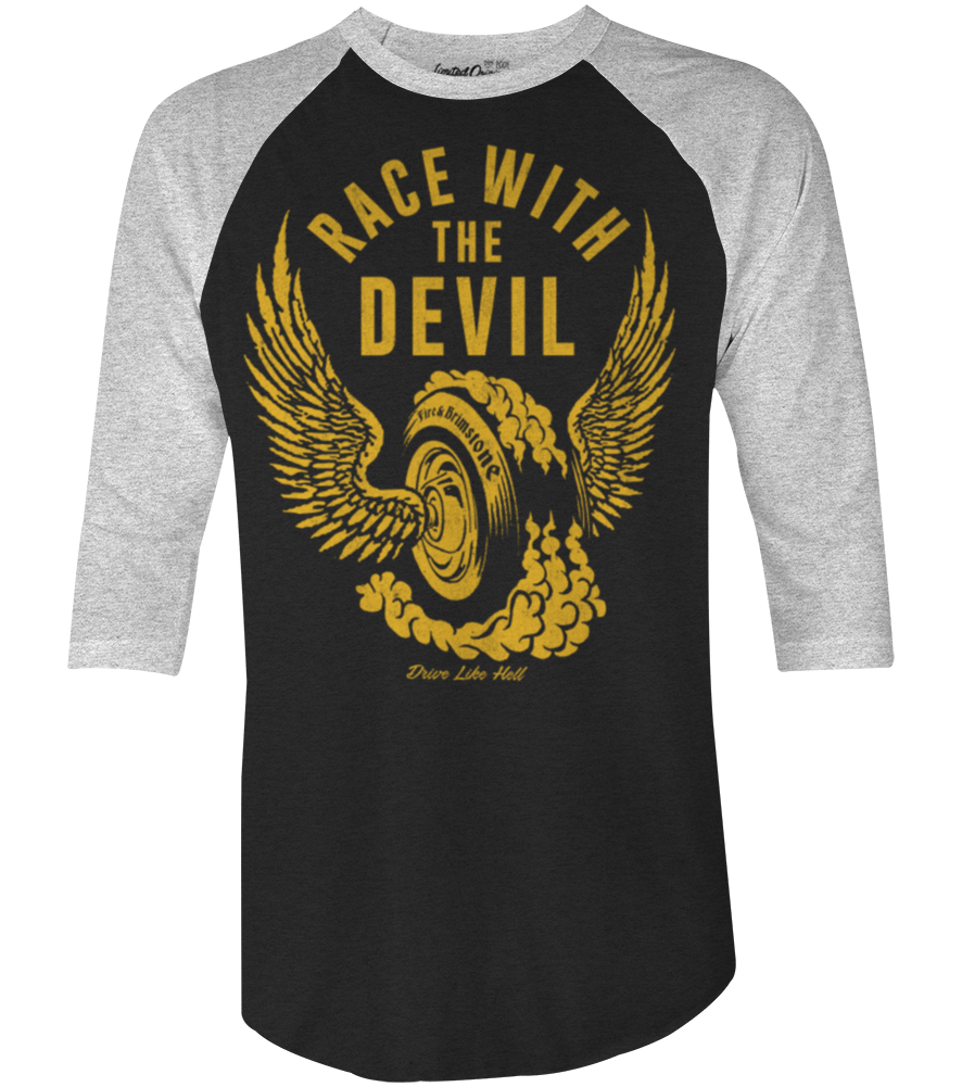 "Men's Race With The Devil ""Fire and Brimstone"" Raglan"