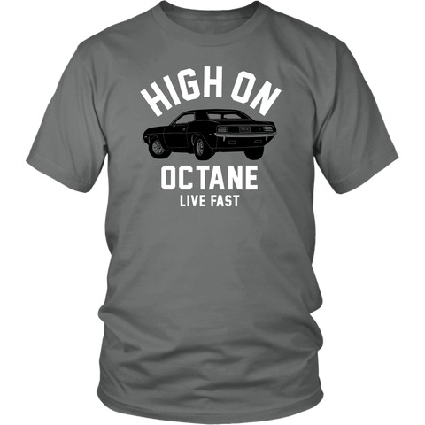 Unisex High on Octane® Live Fast Cuda T-Shirt
