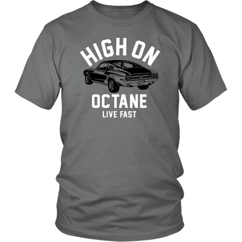 Unisex High on Octane® Live Fast Mustang T-Shirt