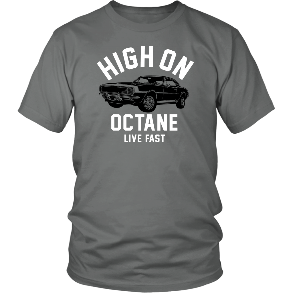 Unisex High on Octane® Live Fast Camaro T-Shirt