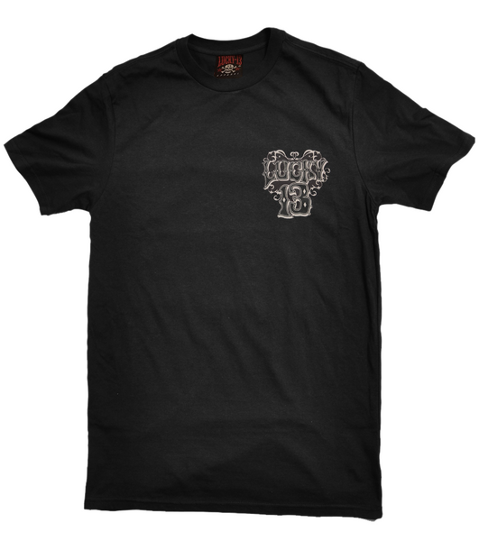 Lucky 13 Thirteen Black Widow Black T-Shirt