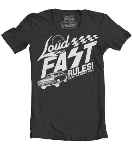 Men's HoO High on Octane Loud Fast Rules Chevelle T-Shirt (Color Options)