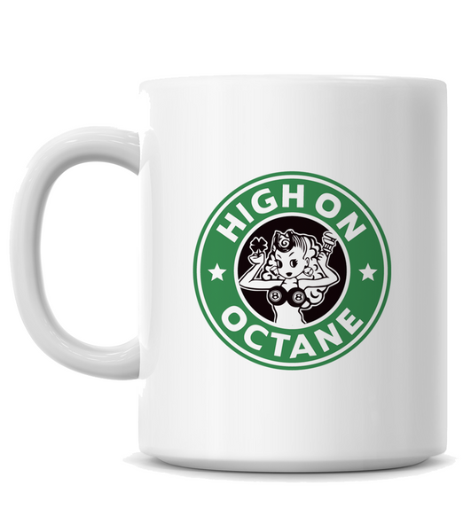 HoO High on Octane's Vintage Camaro Muscle Car Coffee Mug