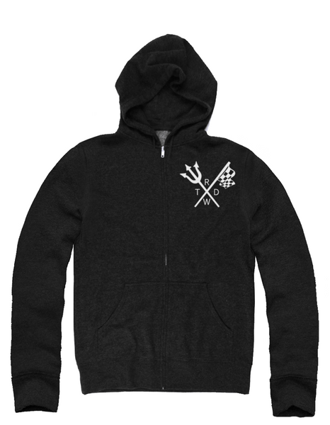 Unisex Race With The Devil Classic Flag 'n Fork Zip Up Hoody