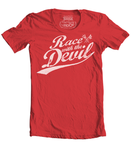 Unisex Race With The Devil Old School Classic Graphic T-Shirt (Color Options)
